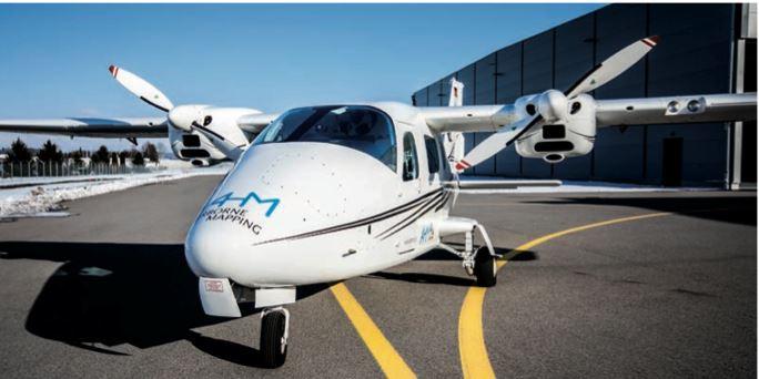 Kleinflugzeug für Laserscanning