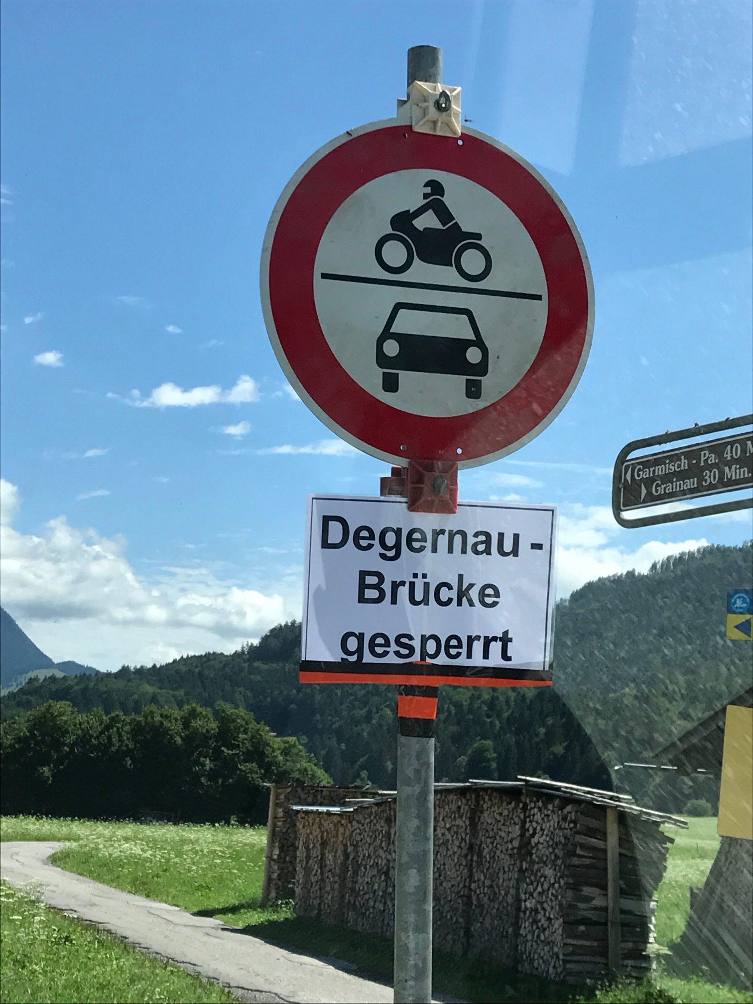Degernaubrücke gesperrt
